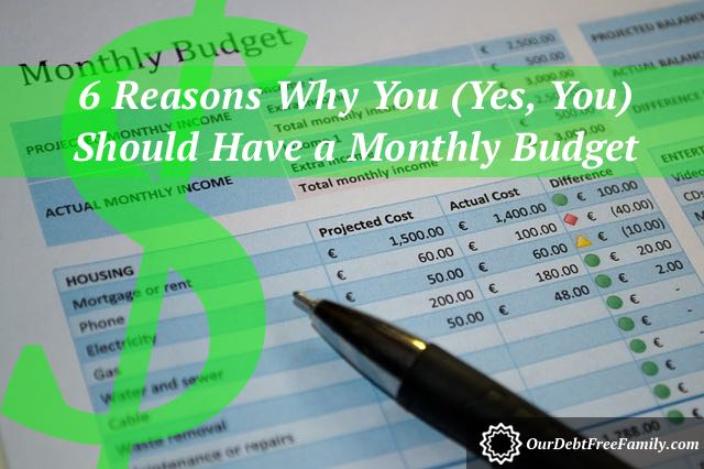 6 reasons why you should have a monthly budget