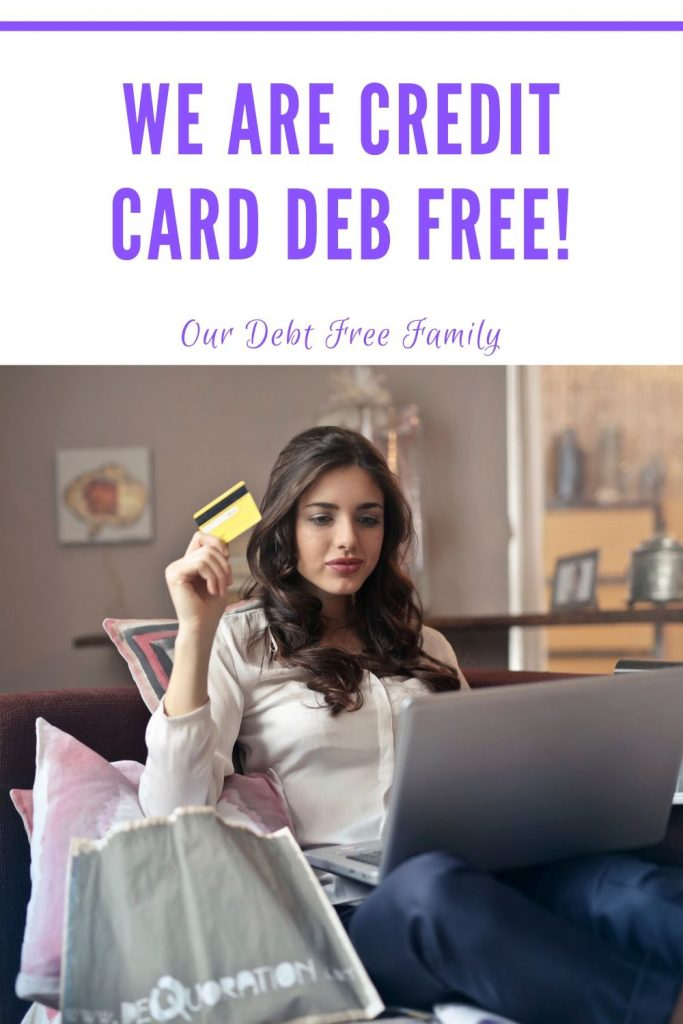 credit card debt free