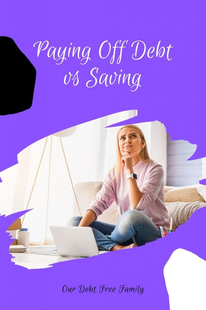paying off debt vs saving